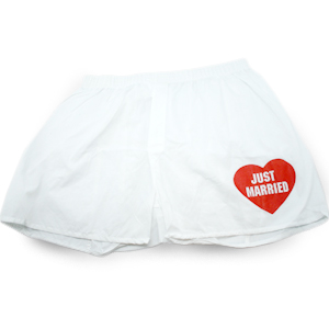 Gag Gifts - 'Just Married' Men's Boxers