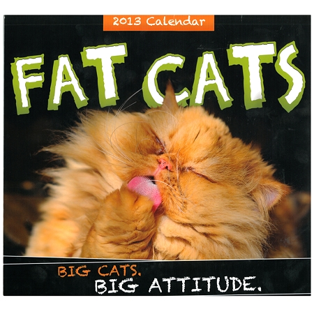 Gag Gifts - 2013 Fat Cats Calendar