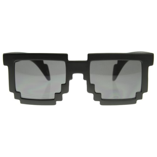 Gag Gifts - 8-Bit Pixel Glasses: Black