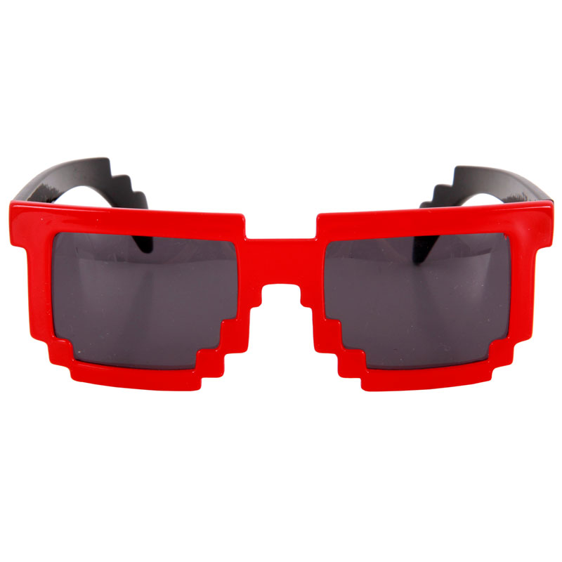 Gag Gifts - 8-Bit Pixel Glasses: Red