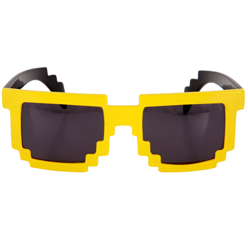 Gag Gifts - 8-Bit Pixel Glasses: Yellow