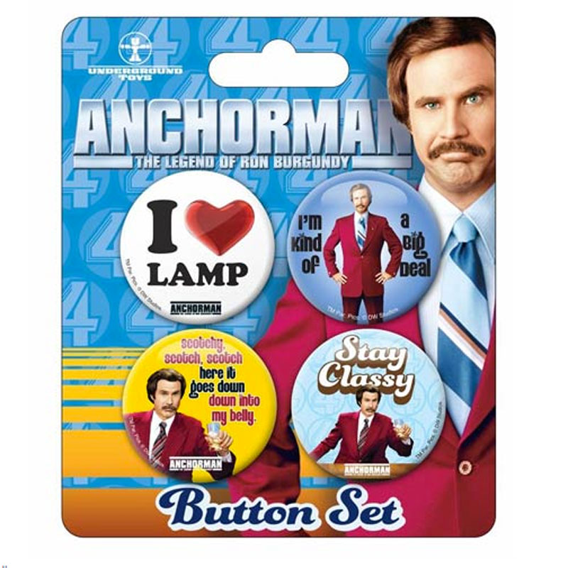 Gag Gifts - Anchorman Buttons