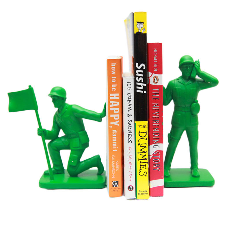 Gag Gifts - Army Men Bookends