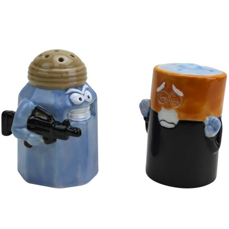 Gag Gifts - Assault and Battery Salt and Pepper Shakers