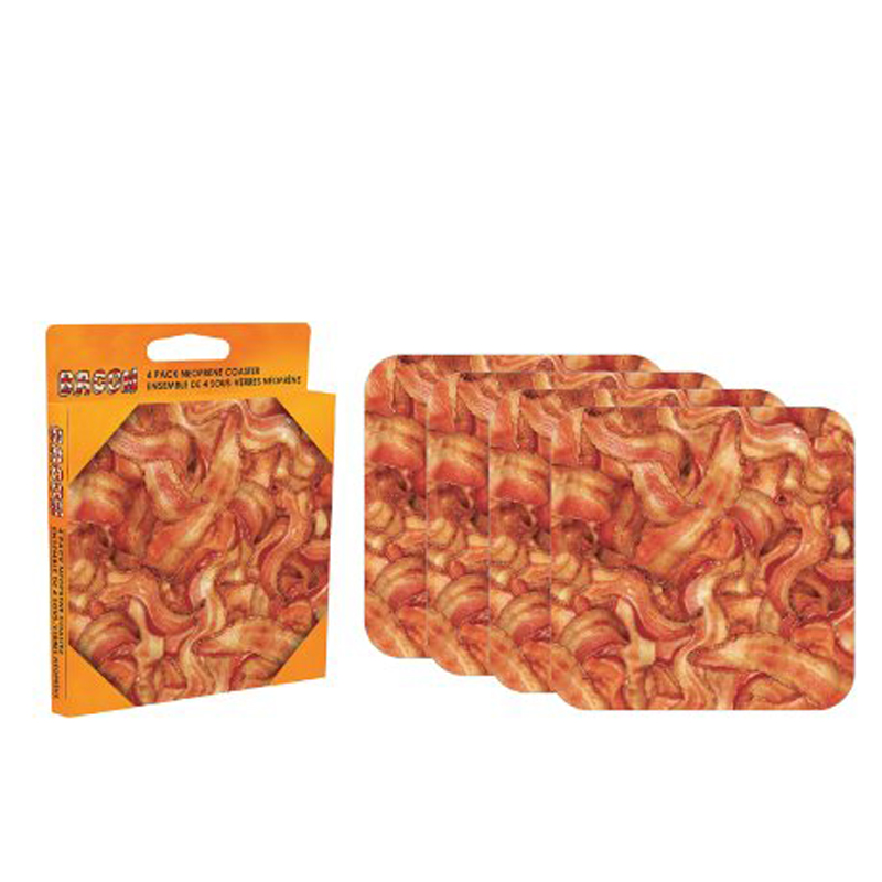 Gag Gifts - Bacon 4 piece Coaster Set
