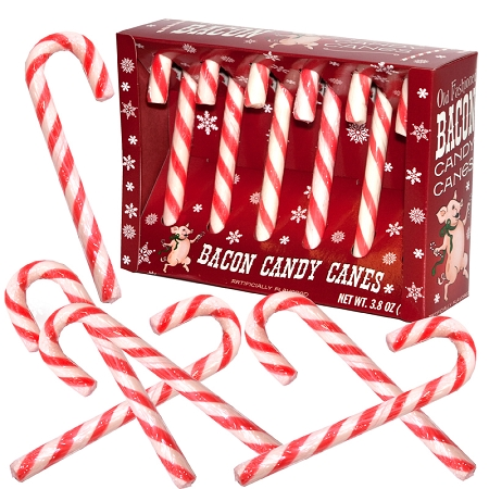 Gag Gifts - Bacon Candy Canes