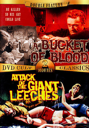Gag Gifts - Bad Movie Night DVD: Bucket of Blood & Giant Leeches