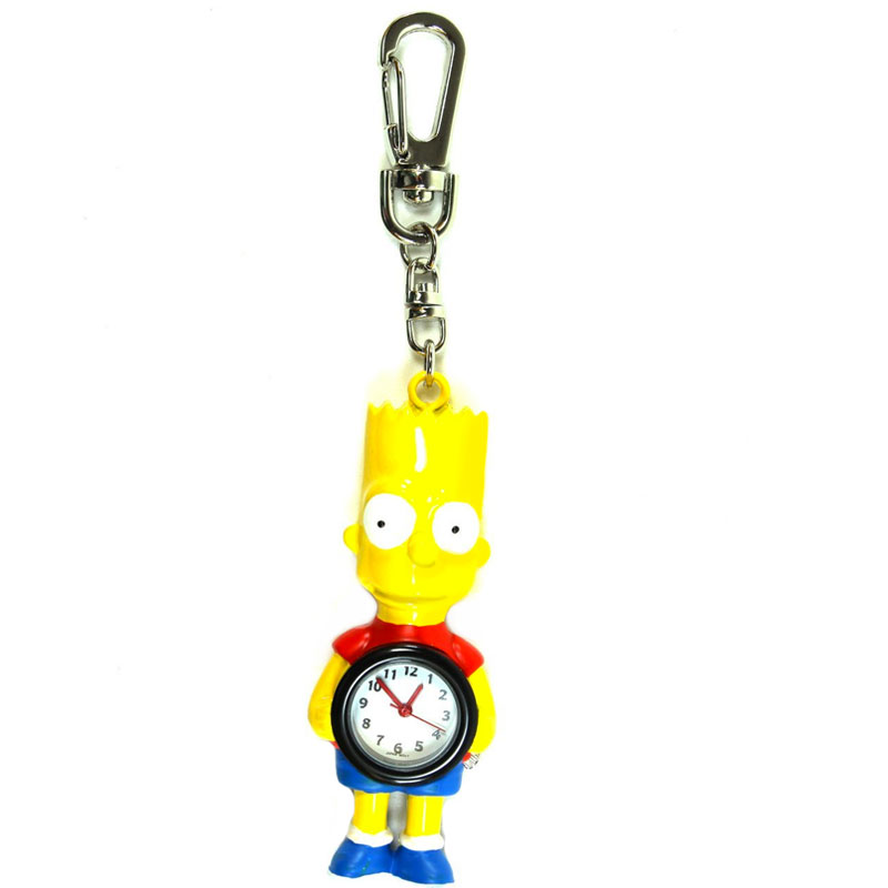 Gag Gifts - Bart Simpson Clock Keychain