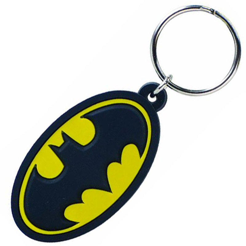 Gag Gifts - Batman Logo Color PVC Keychain