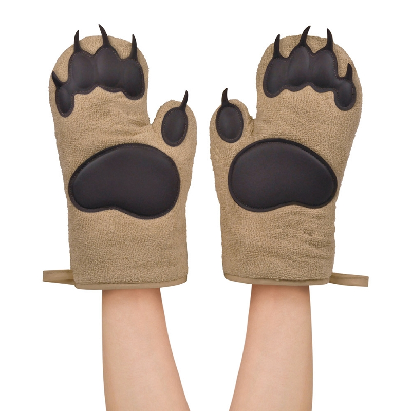 Gag Gifts - Bear Hands- Cotton Oven Mitt