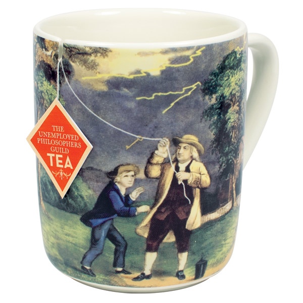 Gag Gifts - Benjamin Franklin Electrici-Tea Mug