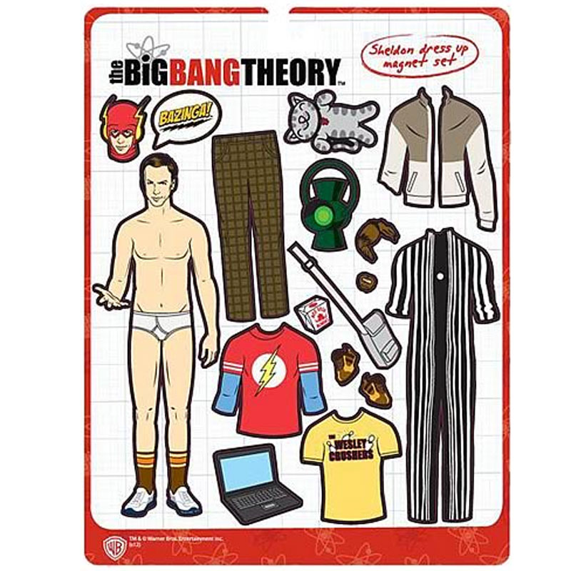 Gag Gifts - Big Bang Theory: Sheldon Magnetic Dress Up Kit