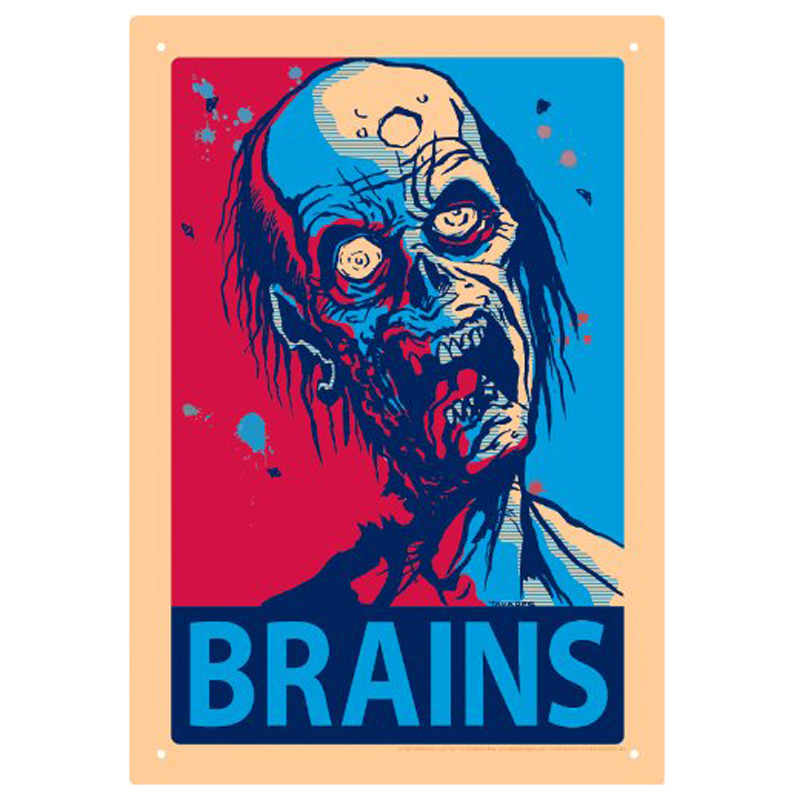 Gag Gifts - Brains Tin Sign