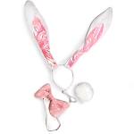 Bunny Ears, Bow, Tail - White