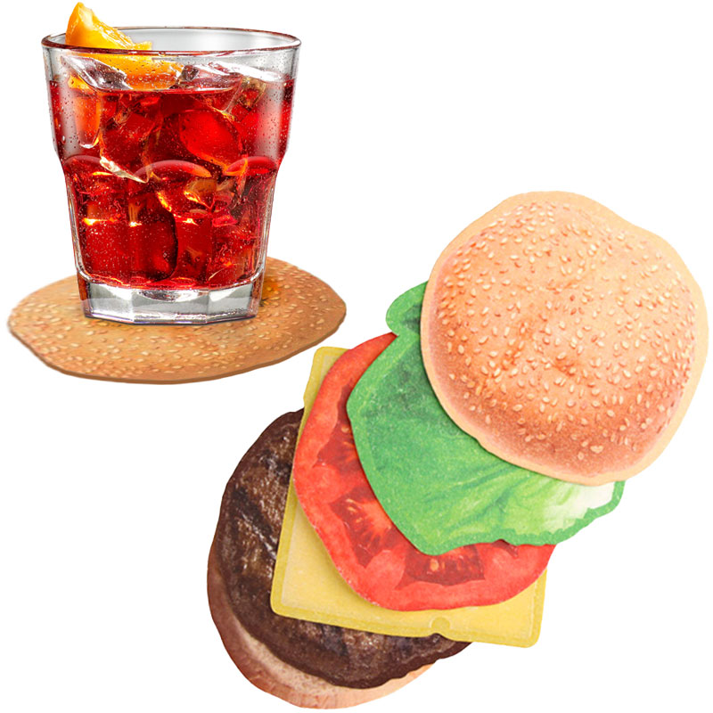 Gag Gifts - Burger Drink Coasters