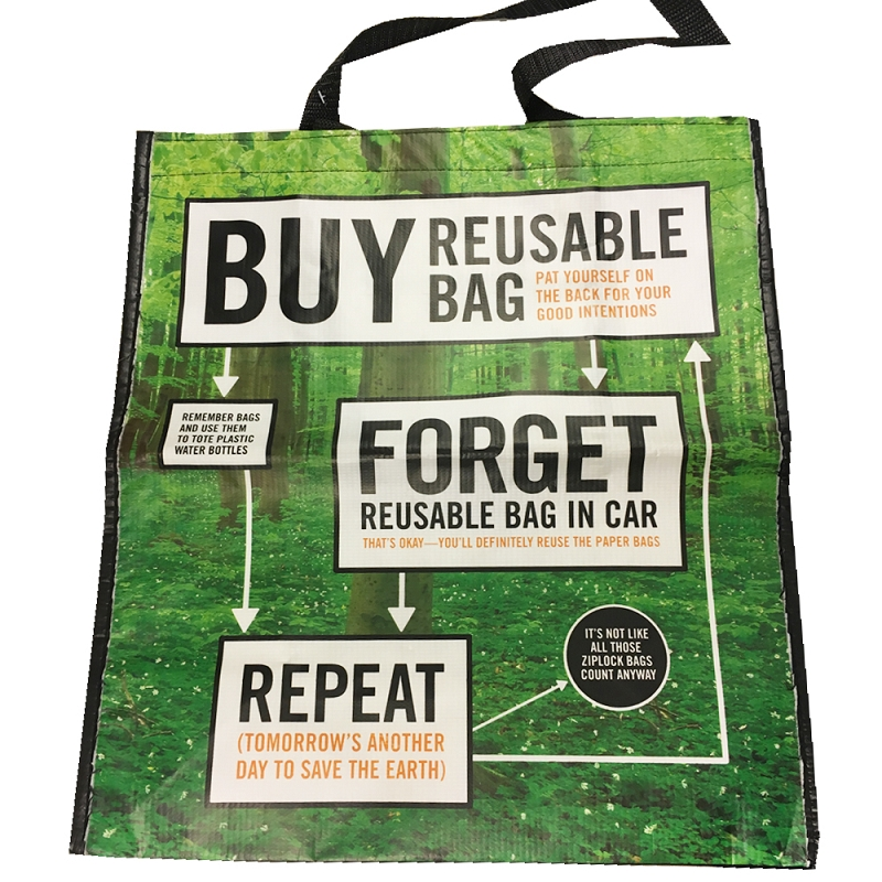 Gag Gifts - Buy, Forget, Repeat Shopping Bag
