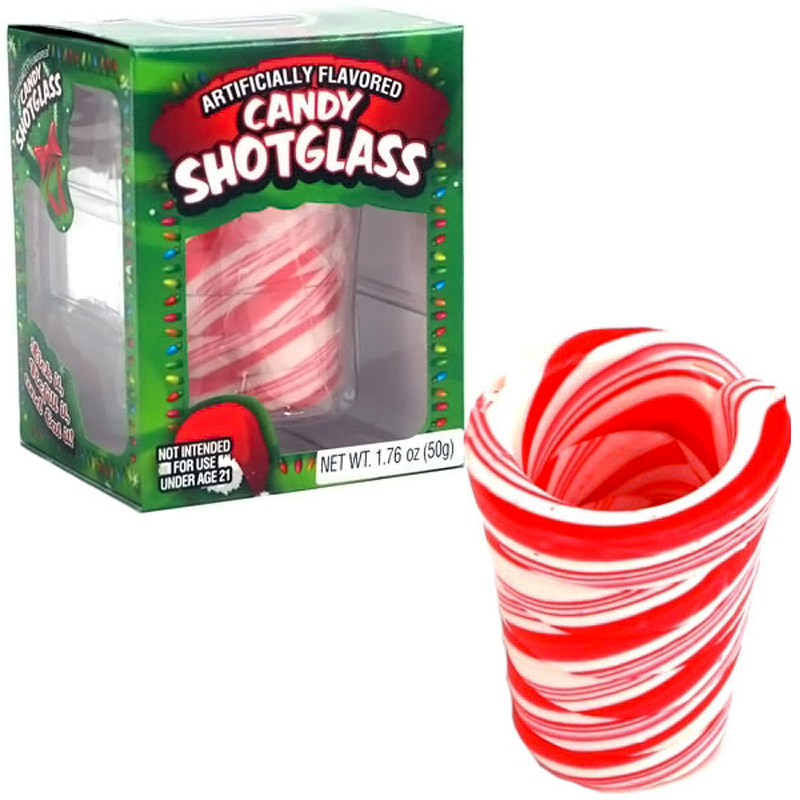 Gag Gifts - Candy Cane Shot Glass