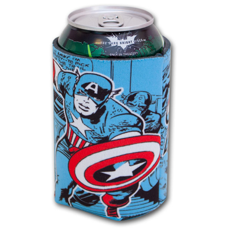 Gag Gifts - Captain America Comic Can Huggie