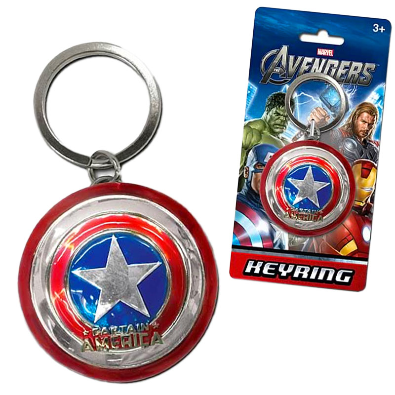 Gag Gifts - Captain America Pewter Keychain