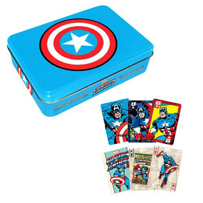 Gag Gifts - Captain America Playing Card Tin Set