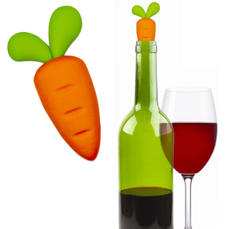 Gag Gifts - Carrot Wine Bottle Stopper
