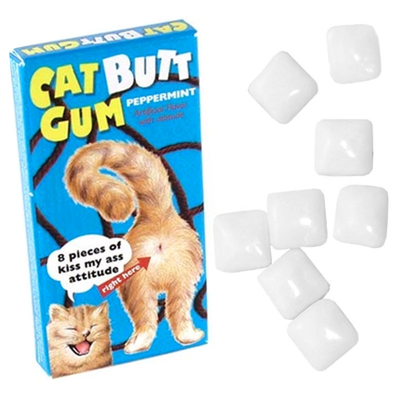 Gag Gifts - Cat Butt Gum