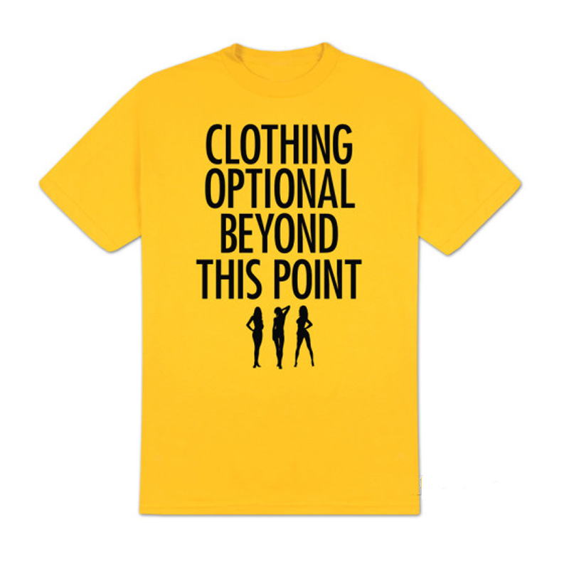 Gag Gifts - Clothing Optional T-Shirt, Yellow