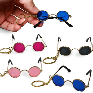 Gag Gifts - Cool Shades Keychains (4 pack)