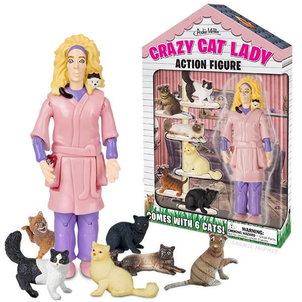 Gag Gifts - Crazy Cat Lady Action Figure