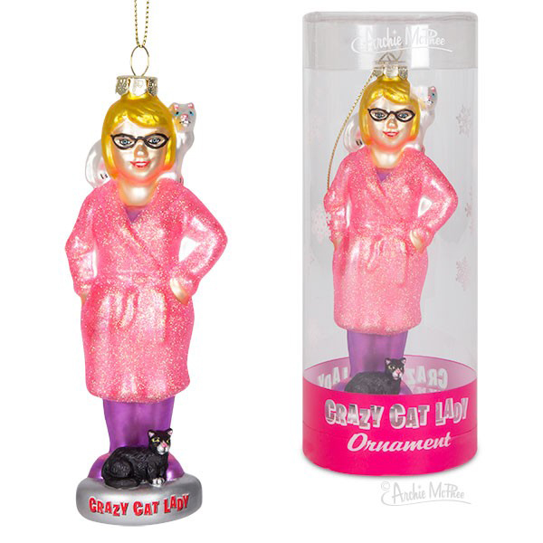 Gag Gifts - Crazy Cat Lady Ornament