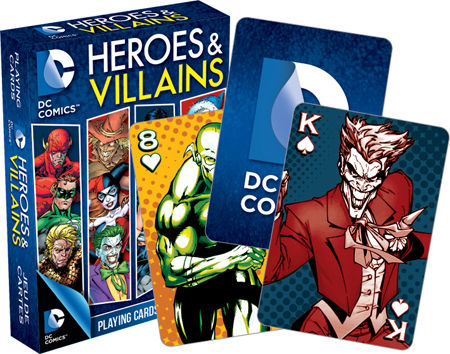 Gag Gifts - DC- Heroes & Villains Playing Cards