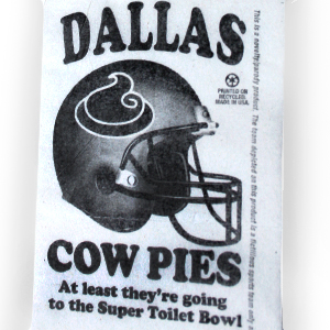 Gag Gifts - Dallas Cow Pies Toilet Paper