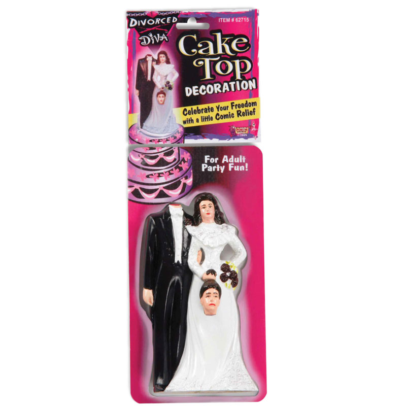 Gag Gifts - Divorce Diva Cake Topper