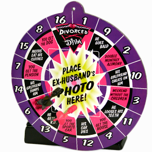 Gag Gifts - Divorce Diva Dartboard