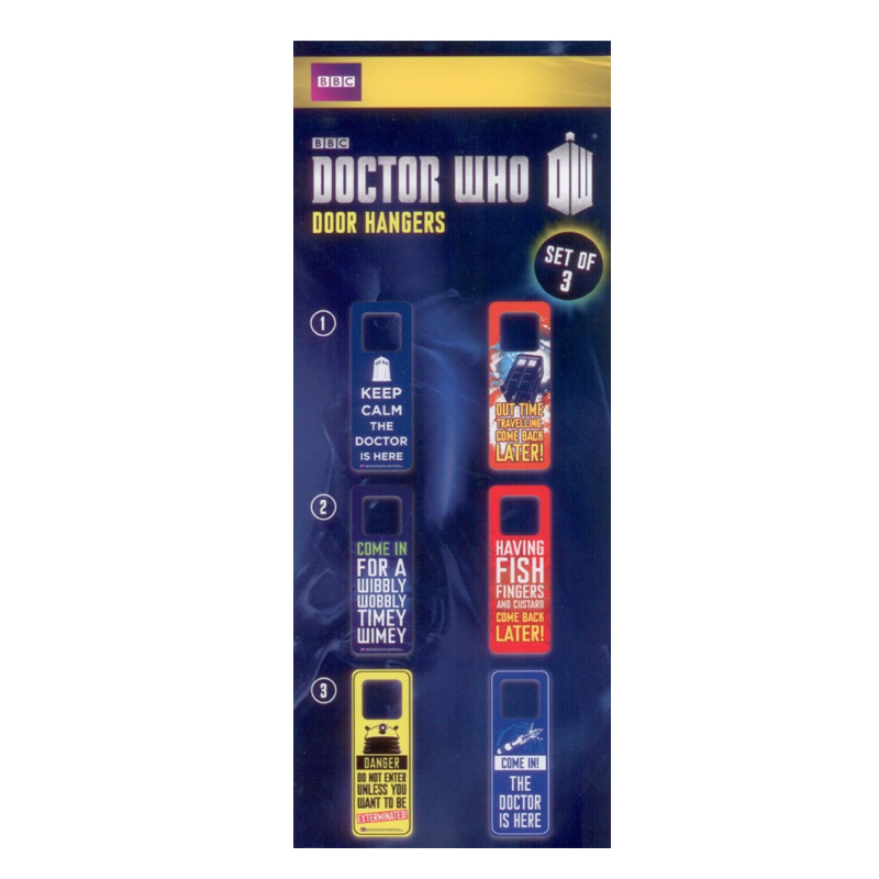 Gag Gifts - Doctor Who: Door Hanger 3 Pack