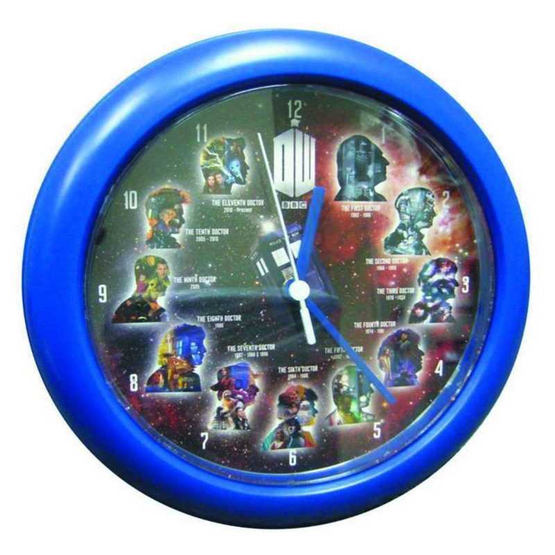 Gag Gifts - Doctor Who: Eleven Doctors Wall Clock