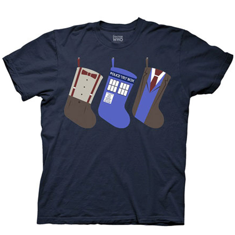 Gag Gifts - Doctor Who: Holiday Stockings T-Shirt