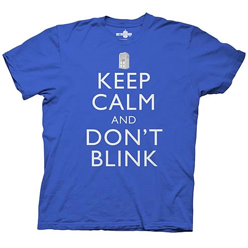 Gag Gifts - Doctor Who: Keep Calm and Don't Blink T-Shirt