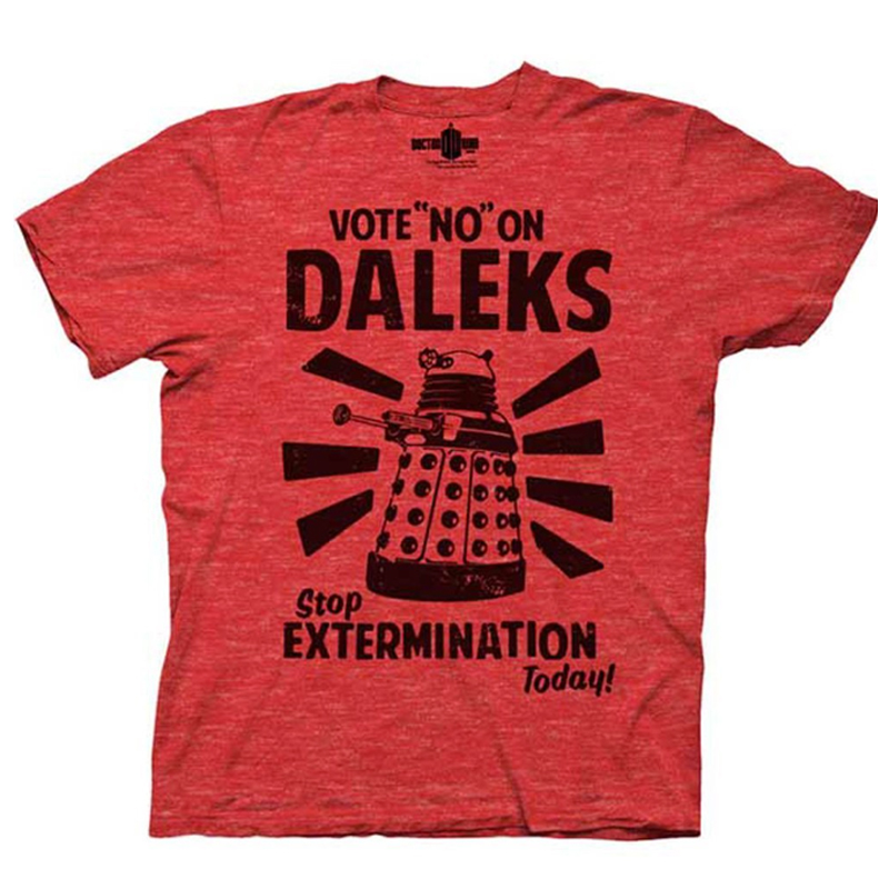 Gag Gifts - Doctor Who: Vote No On Daleks T-Shirt