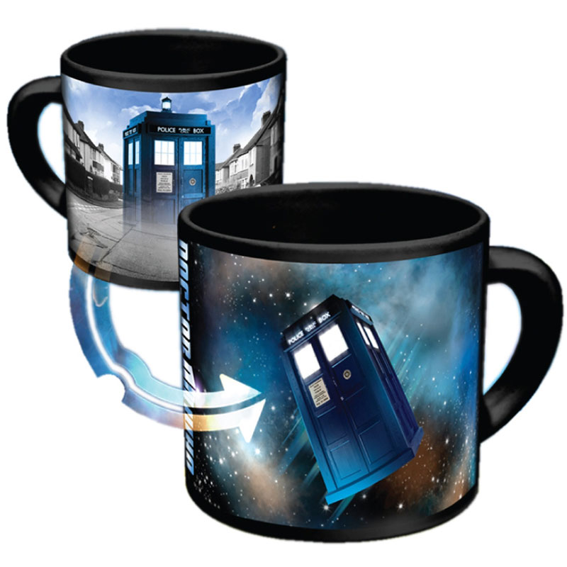 Gag Gifts - Doctor Who Heat-Activated Disappearing Tardis Mug