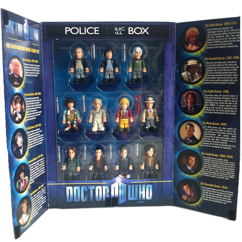 Gag Gifts - Doctor Who Mini Figure Set of 11 Doctors