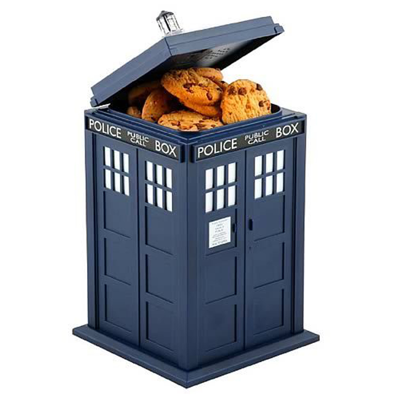Gag Gifts - Doctor Who TARDIS Cookie Jar with Sound