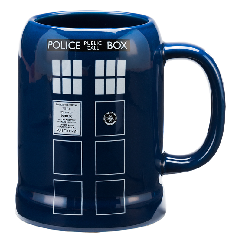 Gag Gifts - Doctor Who Tardis 20 oz. Ceramic Stein