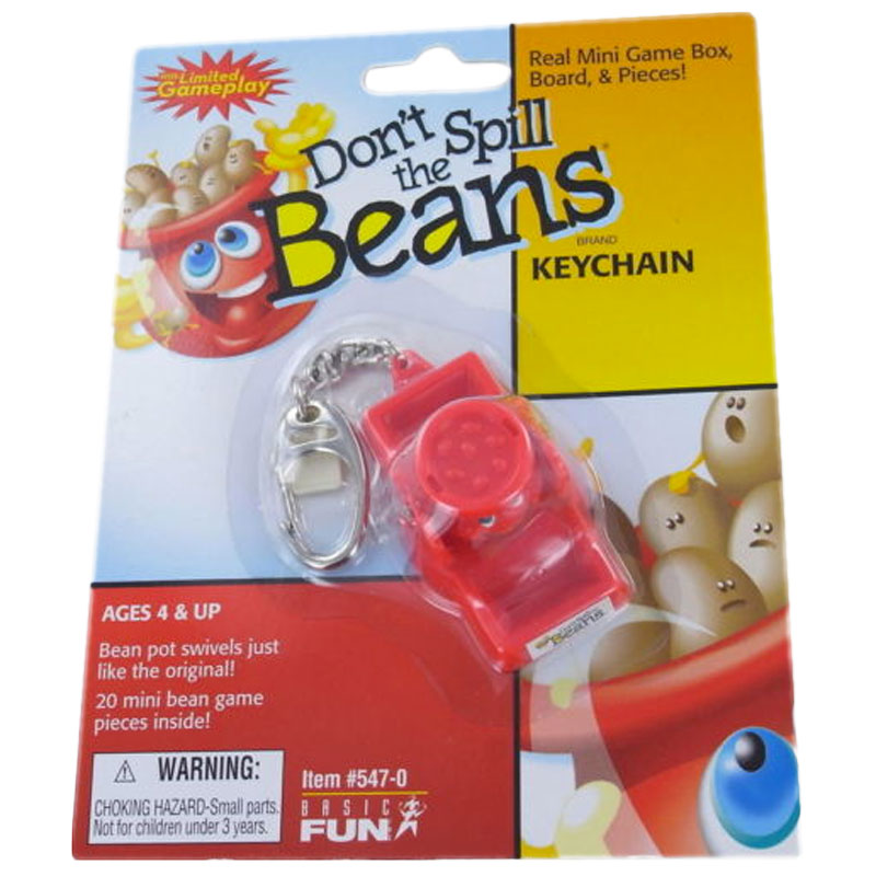 Gag Gifts - Don't Spill the Beans Keychain Game