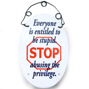Gag Gifts - Everyone is Entitled to be Stupid Magnet