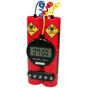 Gag Gifts - Exploding Dynamite Alarm Clock