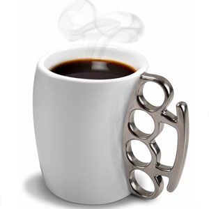 Gag Gifts - Fisticup Brass Knuckles Mug