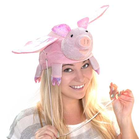 Gag Gifts - Flying Pig Hat