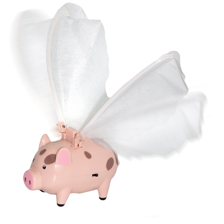 Gag Gifts - Flying Pig Toy