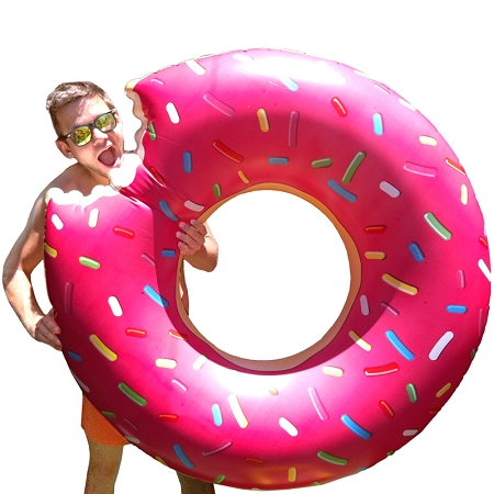Gag Gifts - Giant Inflatable Donut Pool Float